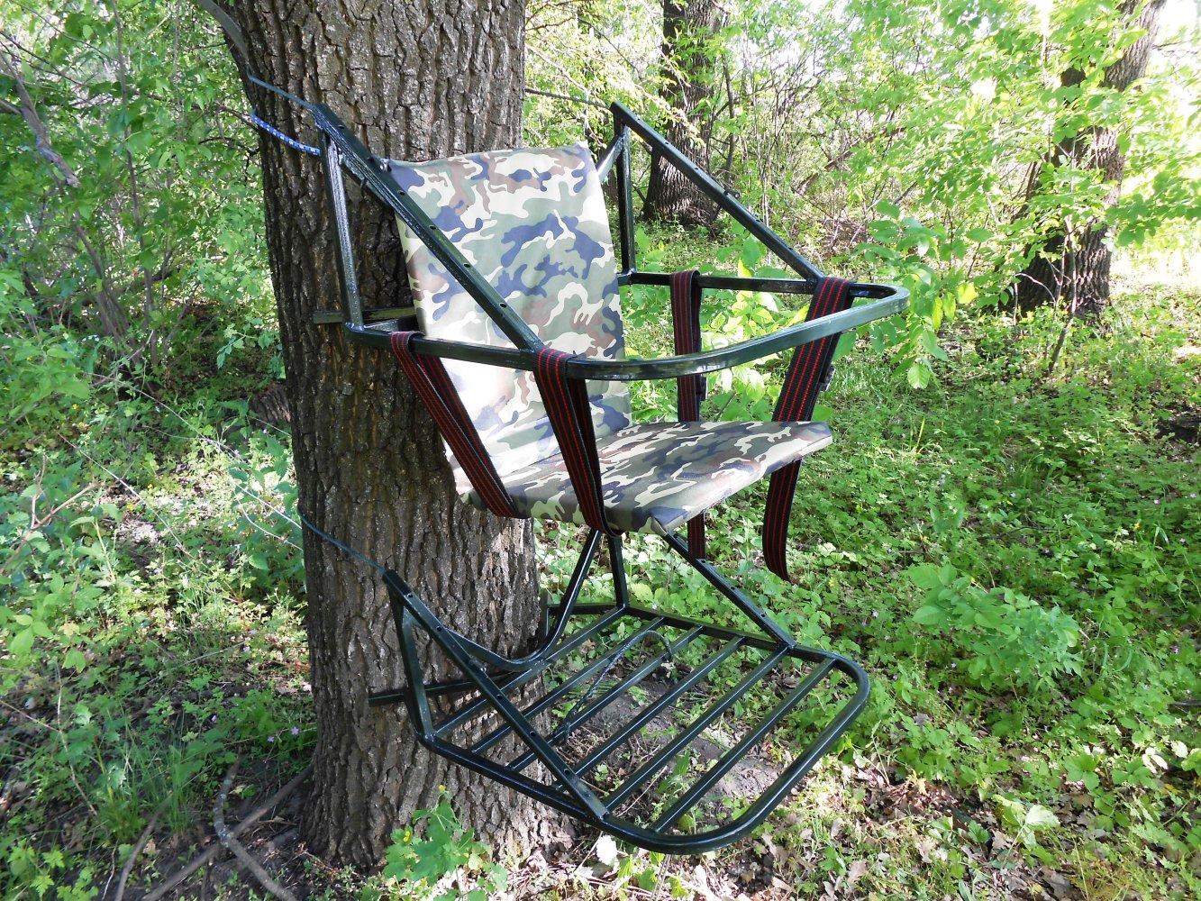 Переносная засидка на дерево своими руками 36